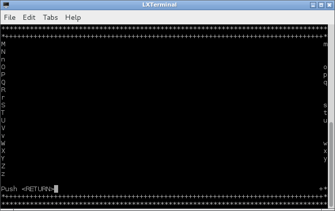 Example of LXTerminal